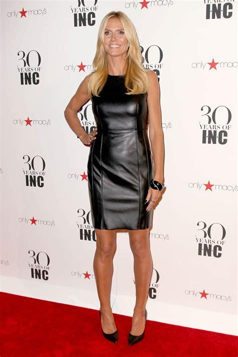 Dress Heidy heidi klum leather mini dress leather