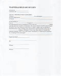 Lien Waiver Template by Lien Waiver Form