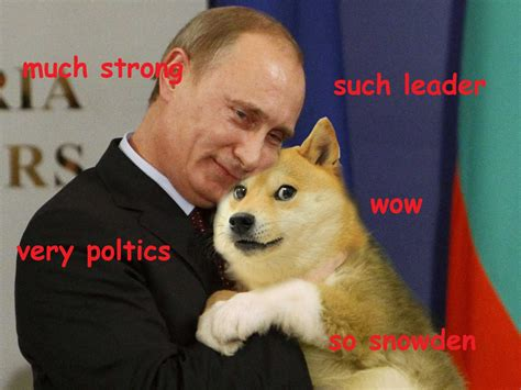 Such Dog Meme - doge touch vladmir putin such leader much strong very