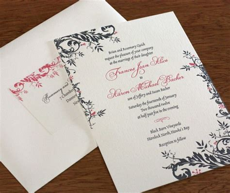 Printed Address Labels For Wedding Invitations