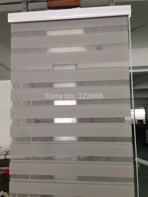 Aliexpress com buy free shipping popular zebra blinds double layer roller blinds for room