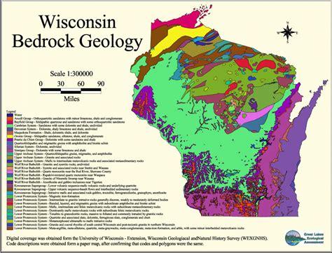 wisconsin bedding bedrock geology of michigan