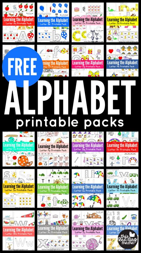 printable alphabet readers free abc printable packs learning the alphabet