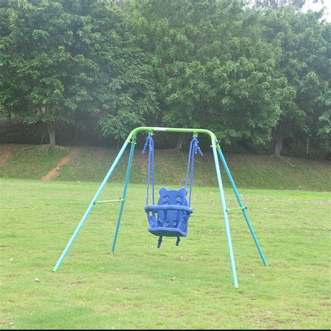 toddler swing frame out indoor folding toddler swing chair fabric steel frame