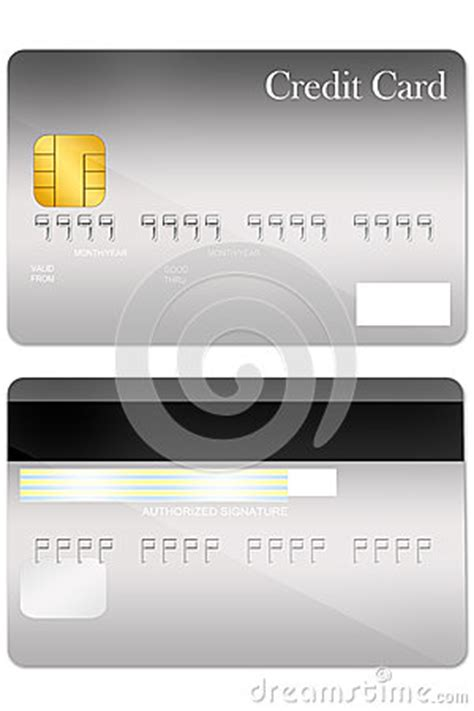 card template with front and back front and back credit card template stock image image