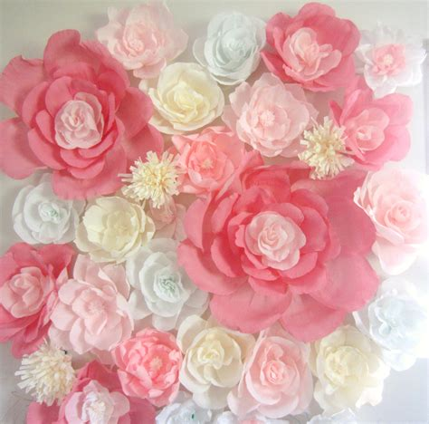 Paper Flowers For - paper flower wall display 4ft x 4ft wedding backdrop