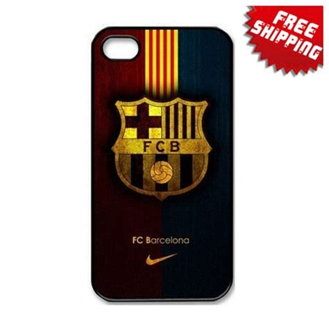 free shipping fc barcelona football sports for iphone 4s 5s 5c samsung s4 s5 cover