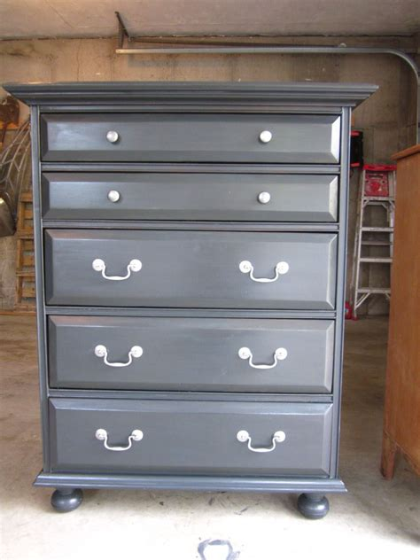 charcoal grey bedroom furniture tall dark gray dresser painted with annie sloan chalk