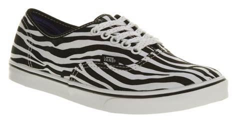 zebra shoes womens vans authentic lo pro zebra black white trainers