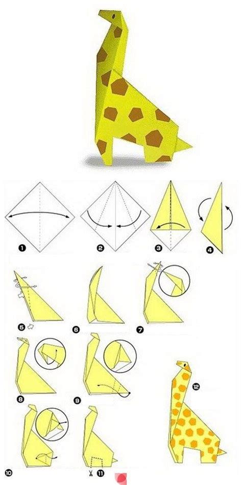 How To Make A Paper Animal Easy - origami giraffe i d to make an animal