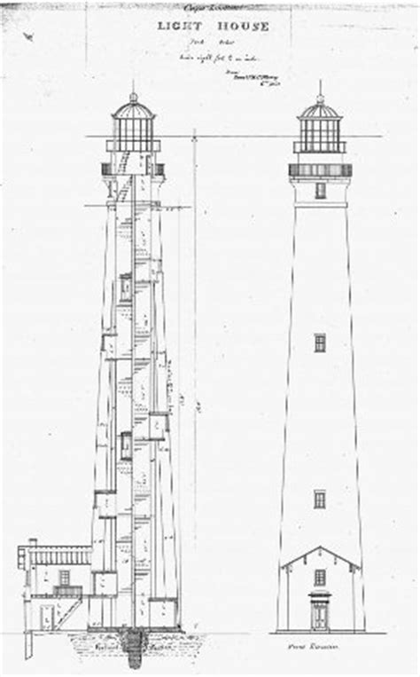 lighthouse home floor plans 1859 lighthouse cape lookout national seashore u s national park service