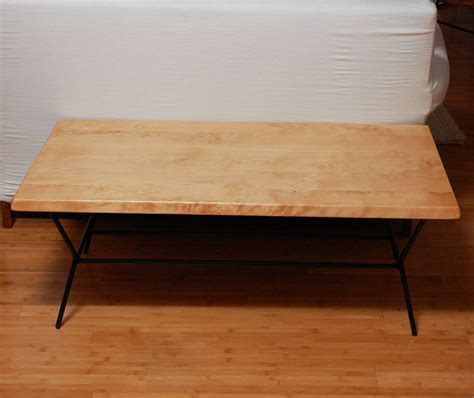 birch coffee tables birch coffee table with black metal legs at 1stdibs