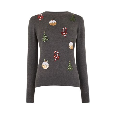 embellished christmas jumper endource