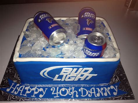 bud light all bud light cooler of cake all edible except