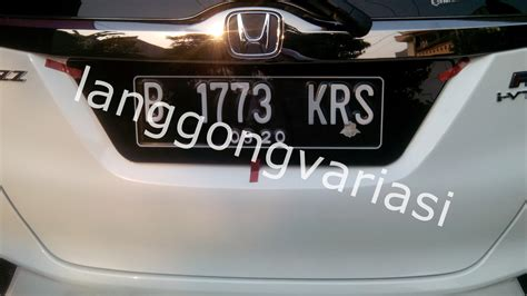 Aksesories Mobil Cover Plat Nomor Acrylic Terbaru jual plat nomor acrylic cembung jazz 2014 jazz terbaru