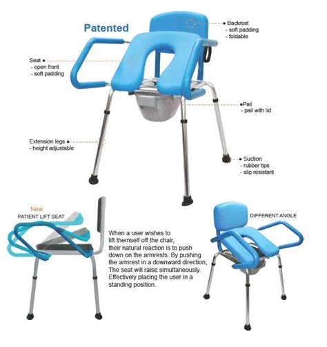 chairs suitable for hip replacement patients toilet aid hba409 coastal independence mobility