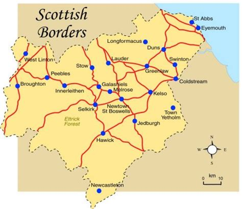 border map anglo scottish border