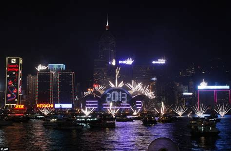 harbour hong kong new year happy new year spectacular pictures show countries across