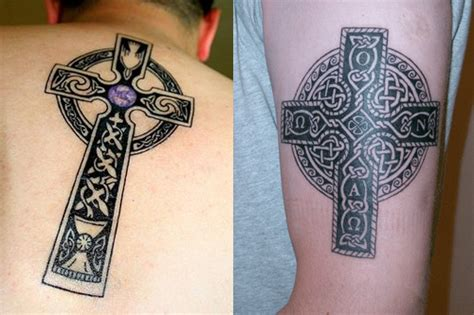 celtic knot cross tattoo celtic cross tattoos designs ideas you should