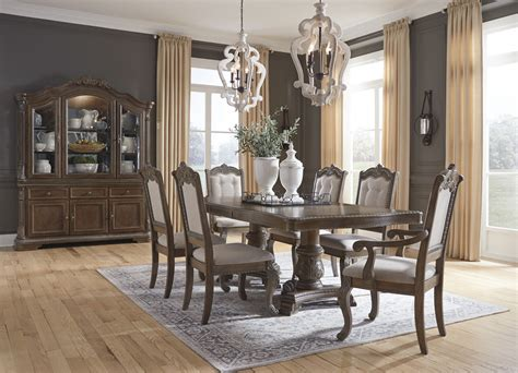 charmond  piece rectangular dining room extension table