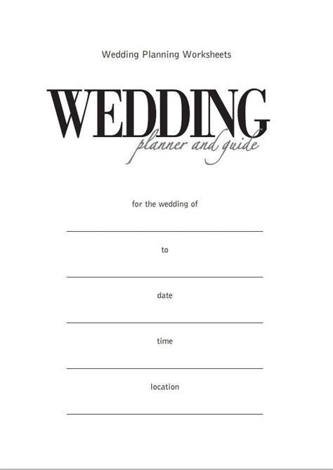 wedding planner printable wedding planner  guide