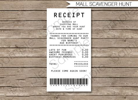 shopping receipt template 7 electronic receipt templates doc pdf free