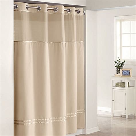 hookless curtains hookless fabric shower curtain with snap liner pmcshop