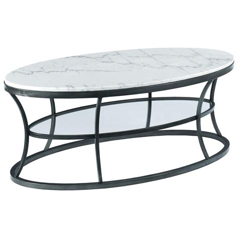 oval marble top coffee table hammary impact oval cocktail table with marble top and