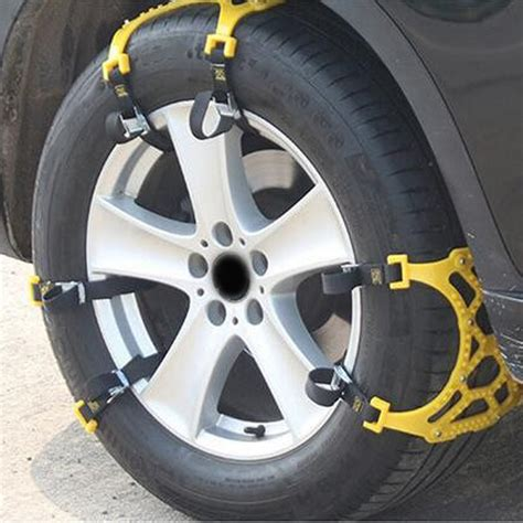 pcs adjustable car tire snow chains emergency anti slip chain  van car suv ebay