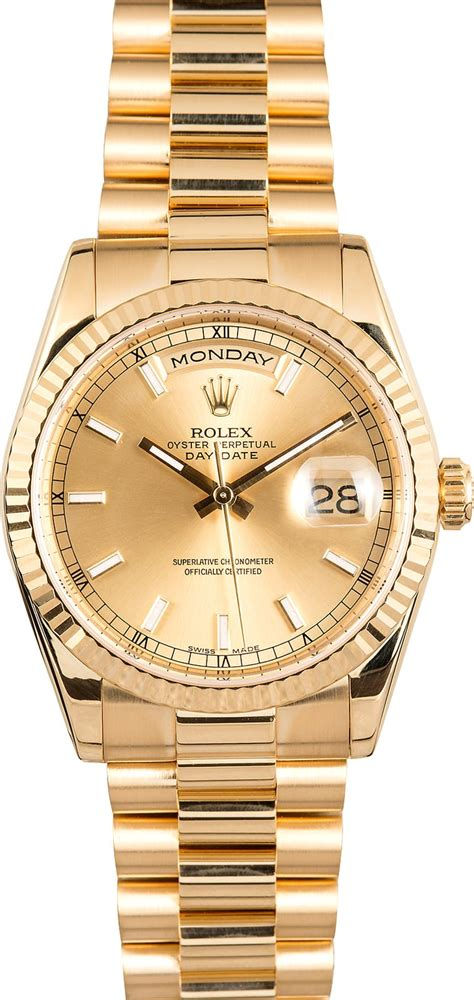 golden rolex rolex president 118238 yellow gold day date