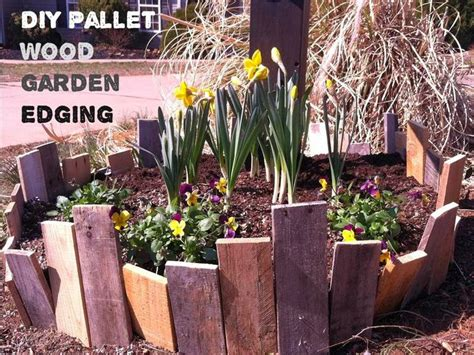 Landscape Edging Borders Diy Diy Garden Edging Using Pallet Or Any Scrap Wood And