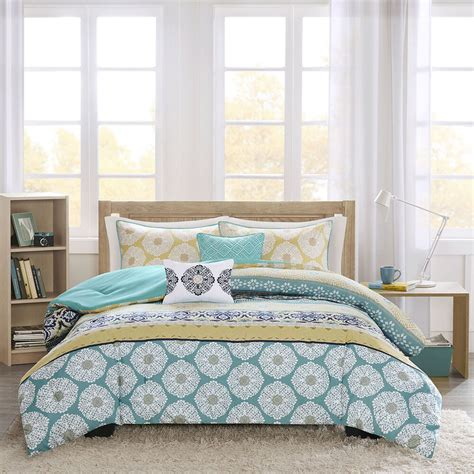 Teal Bedding by Beautiful Modern Blue Green Teal Aqua Navy Bohemian