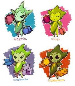 Roselia pokemon variations by shounenraccoon on deviantart