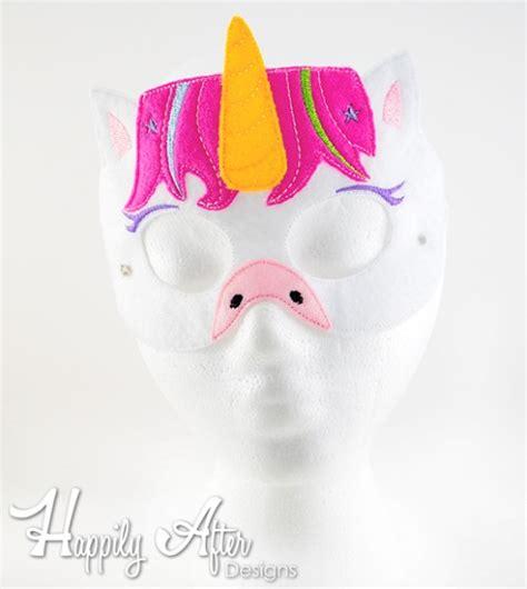 unicorn mask pattern unicorn mask ith embroidery design