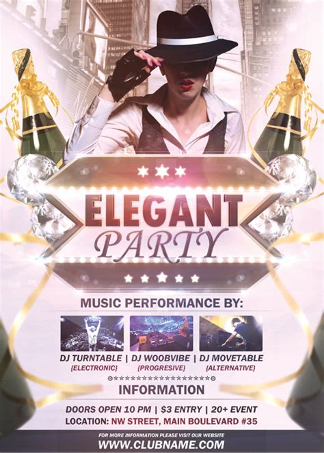 elegant party flyer template by vectormediagr on deviantart
