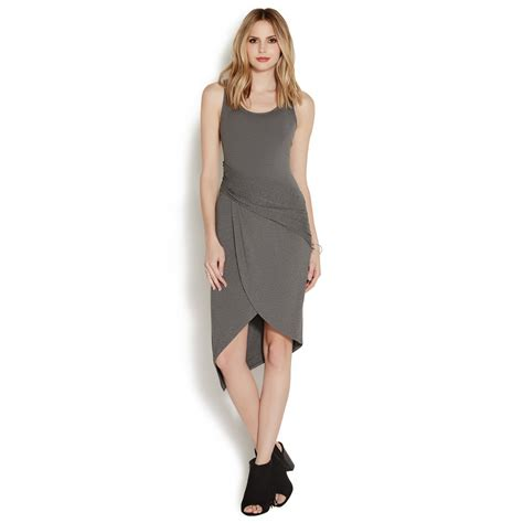Asymmetrical Ruched Knit Dress Shoedazzle