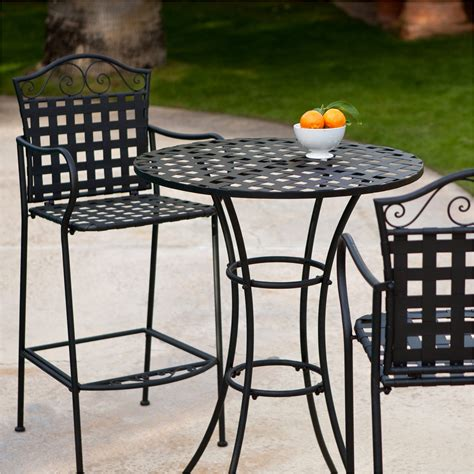 Bar Height Patio Table And Chairs Awesome Outdoor Bistro Patio Bar Height Table And Chairs