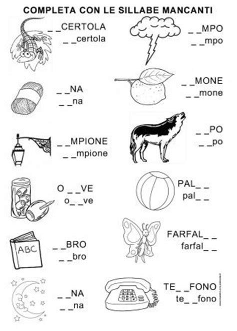 formare parole con queste lettere scheda sillabe consonante l cl prima lingua italiana
