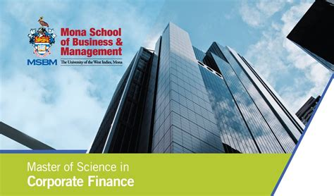Mba Corporate Finance by Msc Corporate Finance Mona School Of Business Management