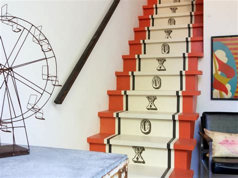 Painted Stairs Design Ideas Step Up Your Space With Clever Staircase Designs Living Room And Dining Room Decorating Ideas