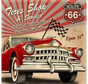 Vintage Car Vector Free Download 8387