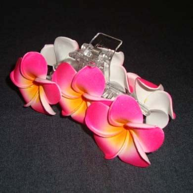 Jepit Rambut 2 Bunga Merah Pink jepit salon pink jepun 6 oleh2bali kerajinan bali