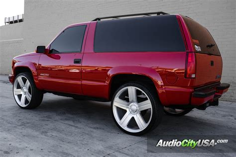 2000 chevy tahoe 26 quot edition wheels silver machine