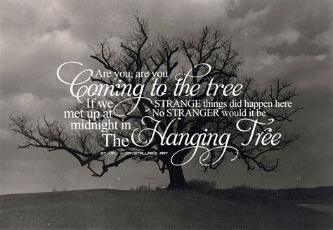 Trees Trees Typography Black typography wallpaper the hanging tree by krystallam on