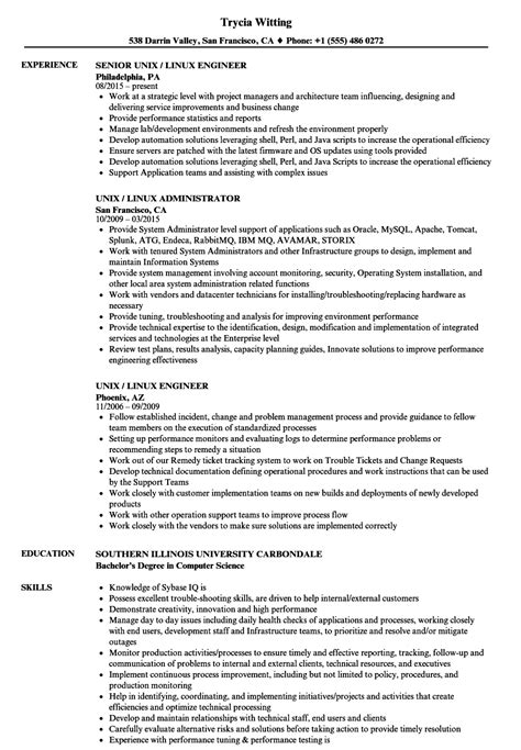 Unix Resume Job by Linux Administration Sample Resume Ms Word Graph Paper