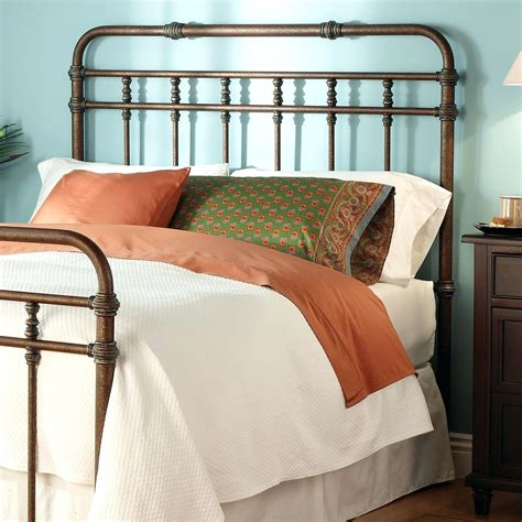 awesome white metal headboard queen also iron full ideas