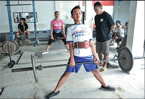 young weightlifters train   elephant club  private