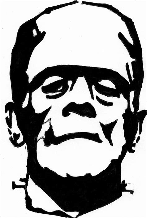 frankenstein template frankenstein outline drawing