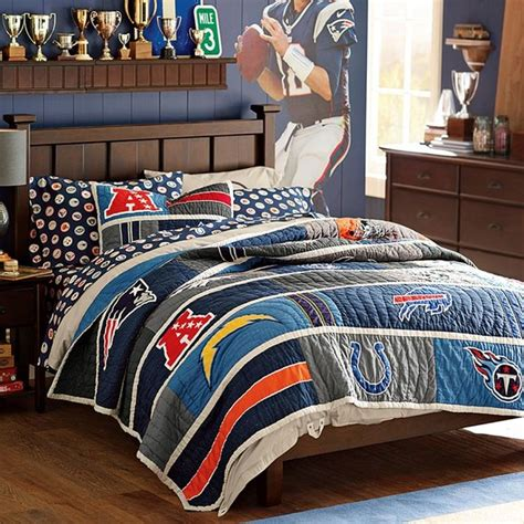 nfl comforters sets nfl quilt afc contemporary kids bedding by pbteen