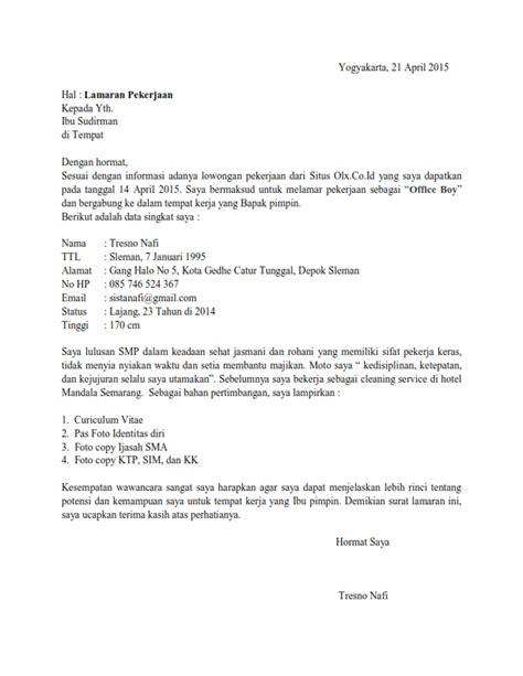 cara membuat surat lamaran pekerjaan fikri wildan nugraha membuat surat lamaran kerja lulusan sma contoh surat